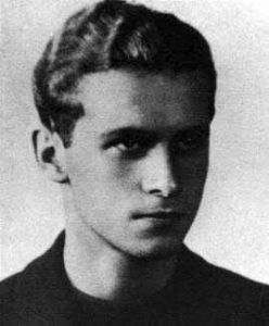 Fotografia przedstawia Krzysztofa Kamila Baczyńskiego