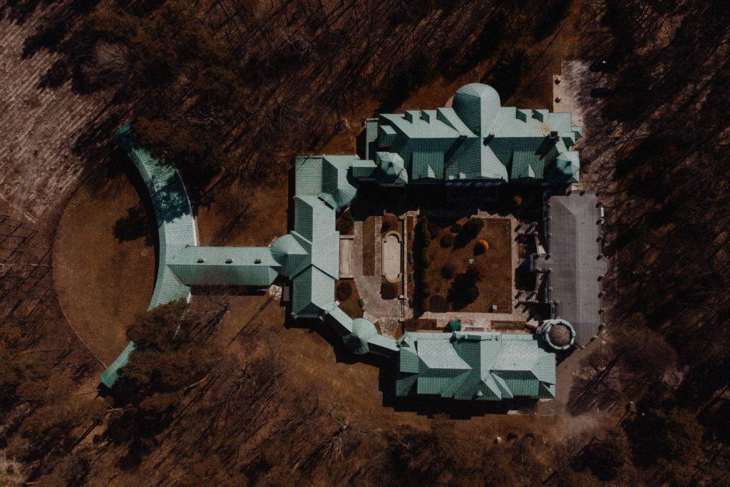 PrzemPrzemysław Budzyński - Pałac Zamoyskich w Adampolu – rzut budynkuysław Budzyński - Pałac Zamoyskich w Adampolu – rzut budynku