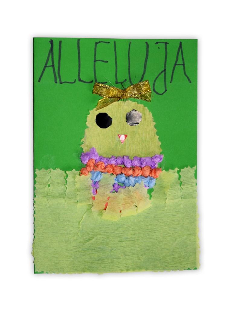 Zdjęcie przedstawia przesłaną kartkę konkursową na Konkurs Wielkanocny 2021 w kategorii dzieci 5 - 6 lat autorstwa B. Kacper