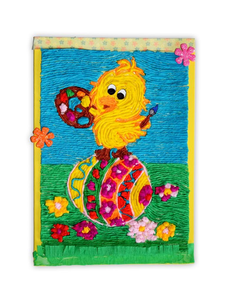 Zdjęcie przedstawia przesłaną kartkę konkursową na Konkurs Wielkanocny 2021 w kategorii dzieci 10 - 13 lat autorstwa R. Aleksandra