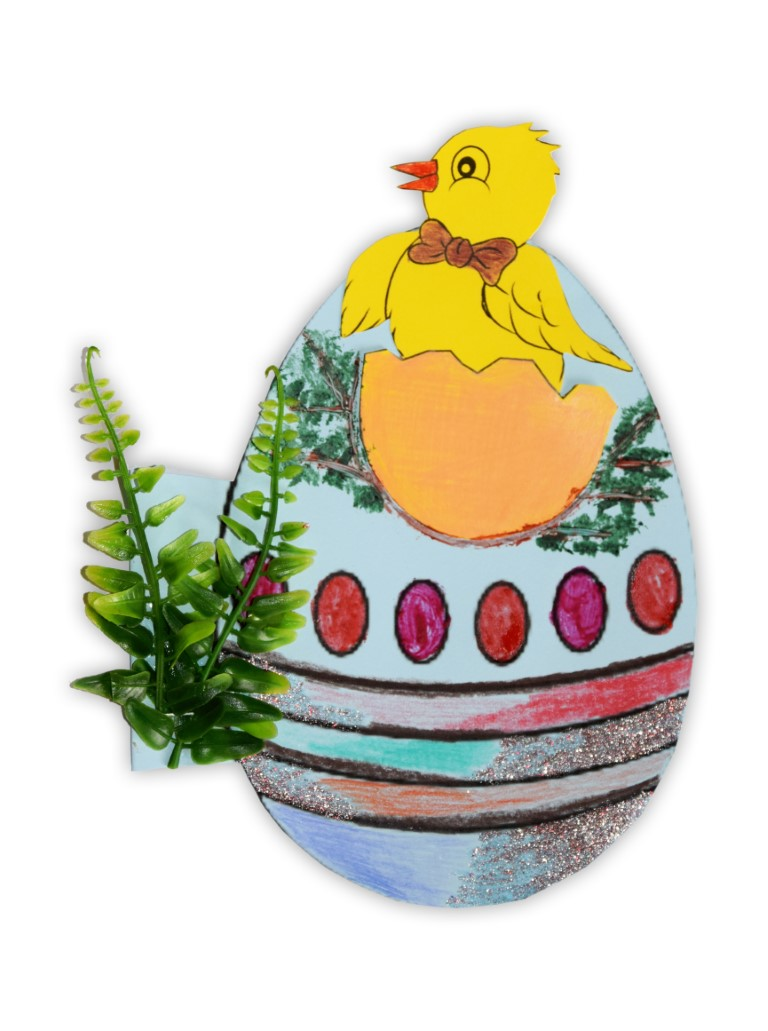 Zdjęcie przedstawia przesłaną kartkę konkursową na Konkurs Wielkanocny 2021 w kategorii dzieci 7 - 9 lat autorstwa P. Alan