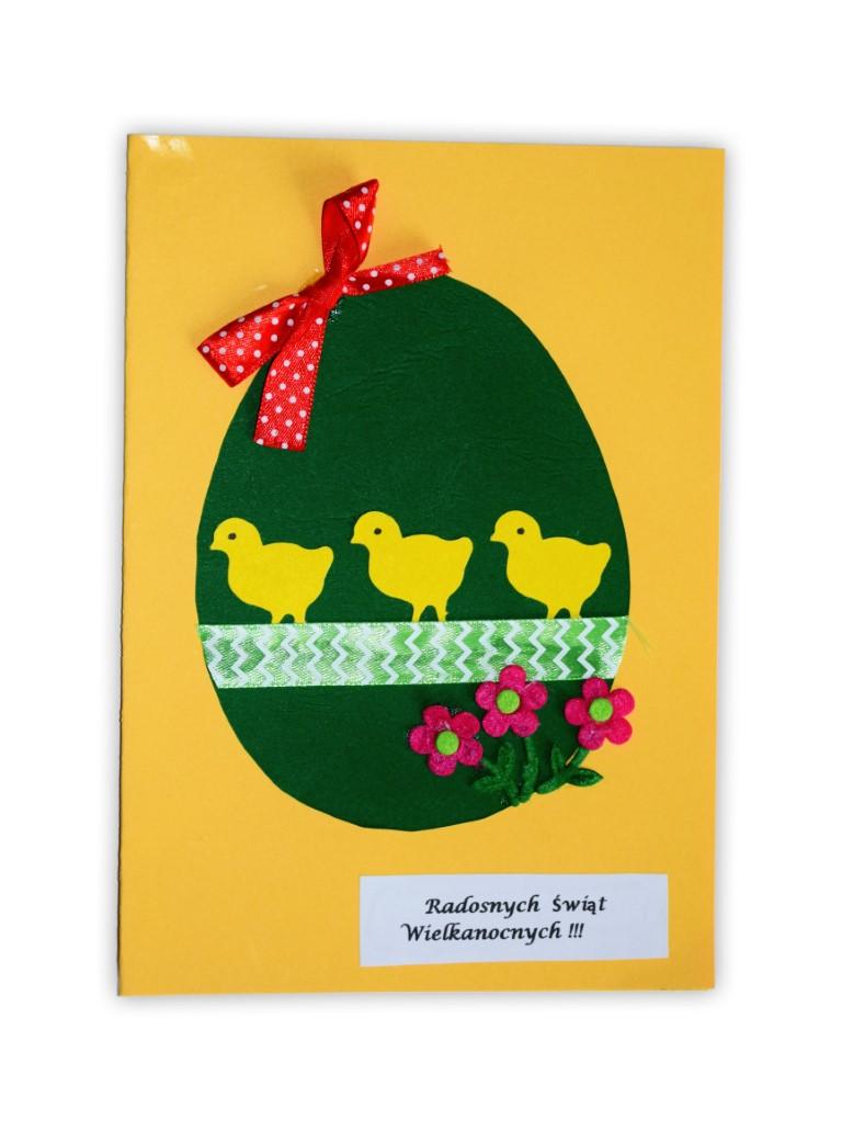 Zdjęcie przedstawia przesłaną kartkę konkursową na Konkurs Wielkanocny 2021 w kategorii dzieci 7 - 9 lat autorstwa M. Agata
