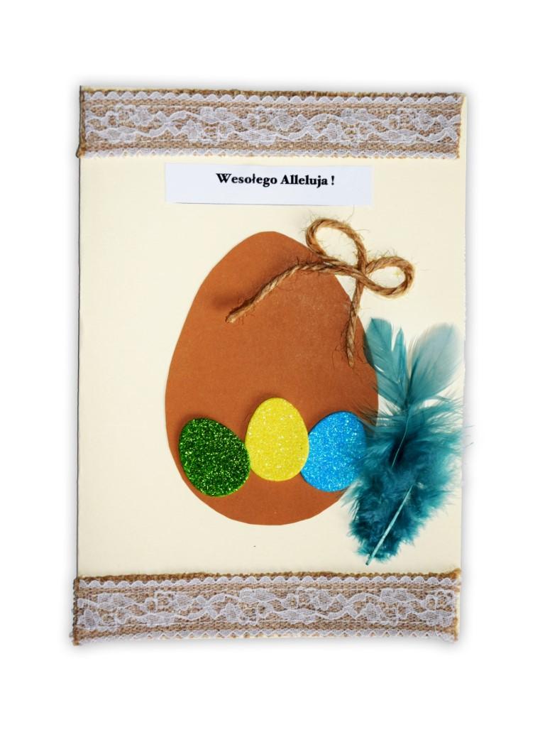 Zdjęcie przedstawia przesłaną kartkę konkursową na Konkurs Wielkanocny 2021 w kategorii dzieci 10 - 13 lat autorstwa Z. Hanna