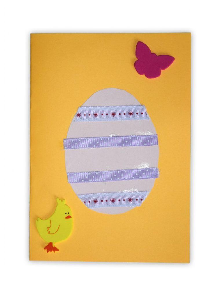 Zdjęcie przedstawia przesłaną kartkę konkursową na Konkurs Wielkanocny 2021 w kategorii dzieci 5 - 6 lat autorstwa W. Jakub