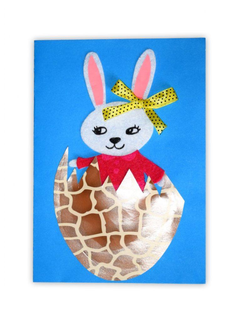Zdjęcie przedstawia przesłaną kartkę konkursową na Konkurs Wielkanocny 2021 w kategorii dzieci 7 - 9 lat autorstwa B. Lena