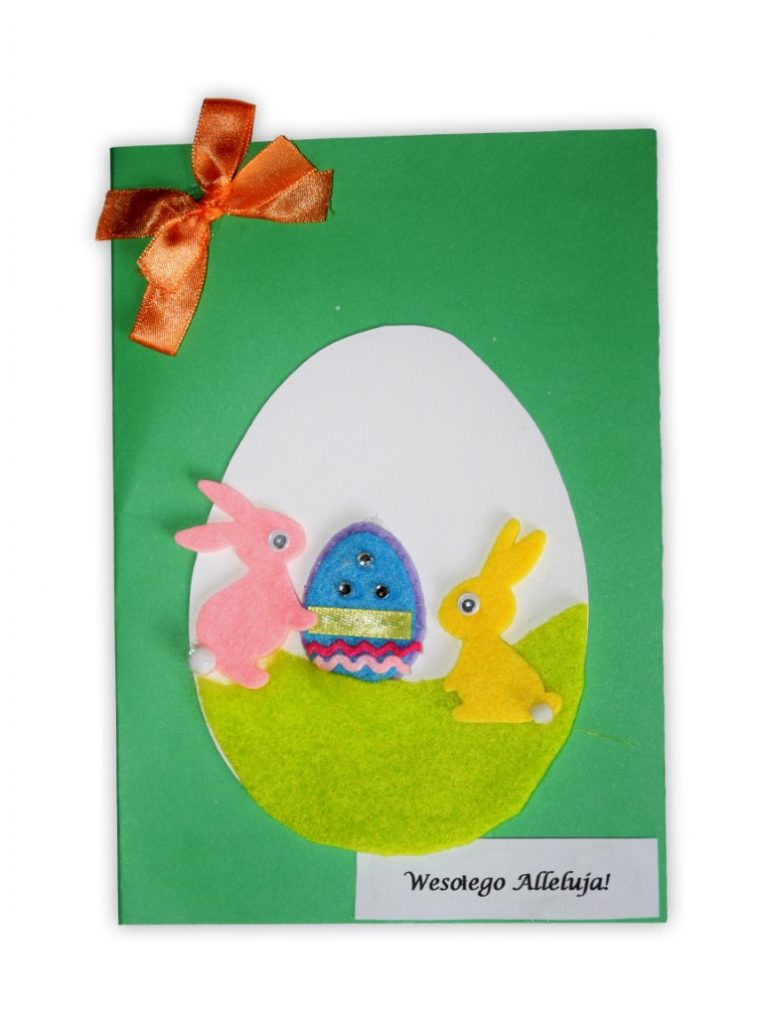Zdjęcie przedstawia przesłaną kartkę konkursową na Konkurs Wielkanocny 2021 w kategorii dzieci 7 - 9 lat autorstwa S. Joanna