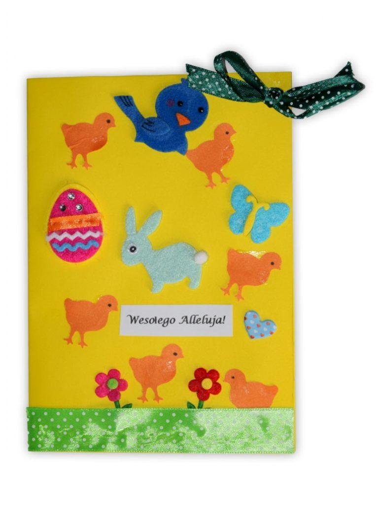 Zdjęcie przedstawia przesłaną kartkę konkursową na Konkurs Wielkanocny 2021 w kategorii dzieci 7 - 9 lat autorstwa S. Kornelia