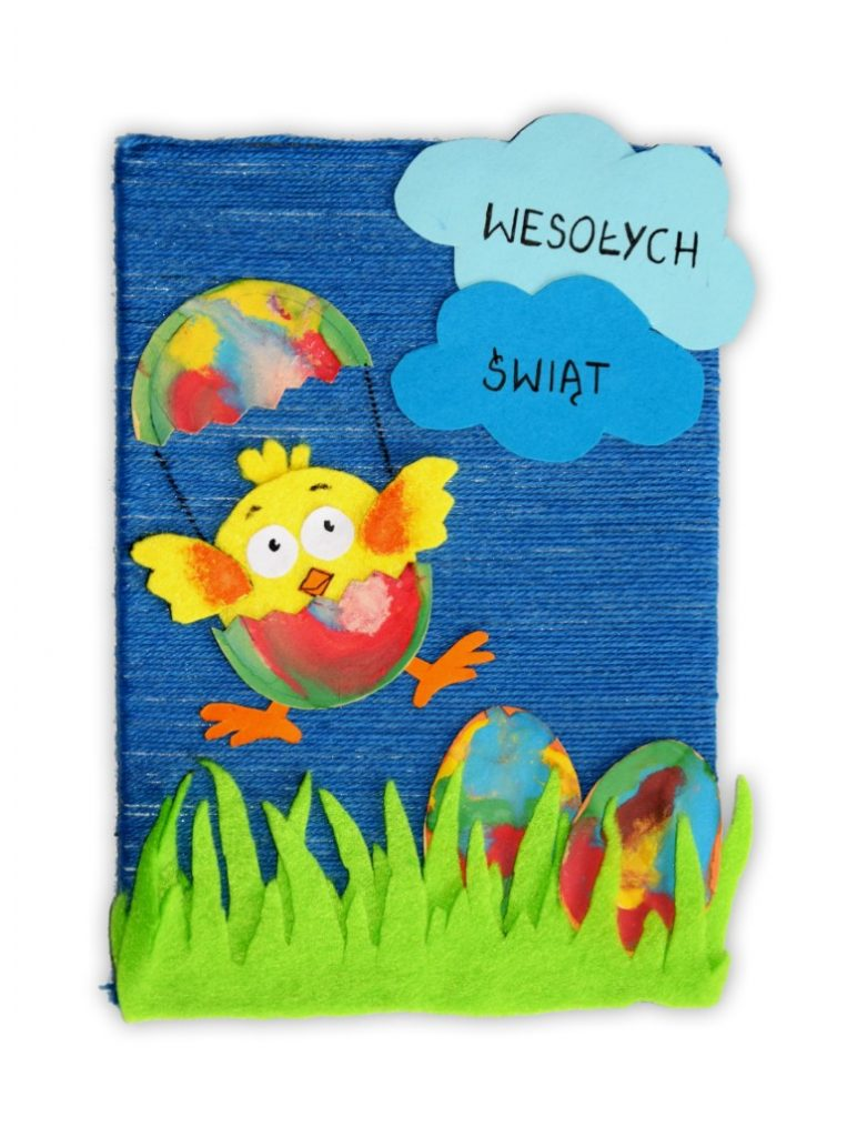 Zdjęcie przedstawia przesłaną kartkę konkursową na Konkurs Wielkanocny 2021 w kategorii dzieci 7 - 9 lat autorstwa S. Michał