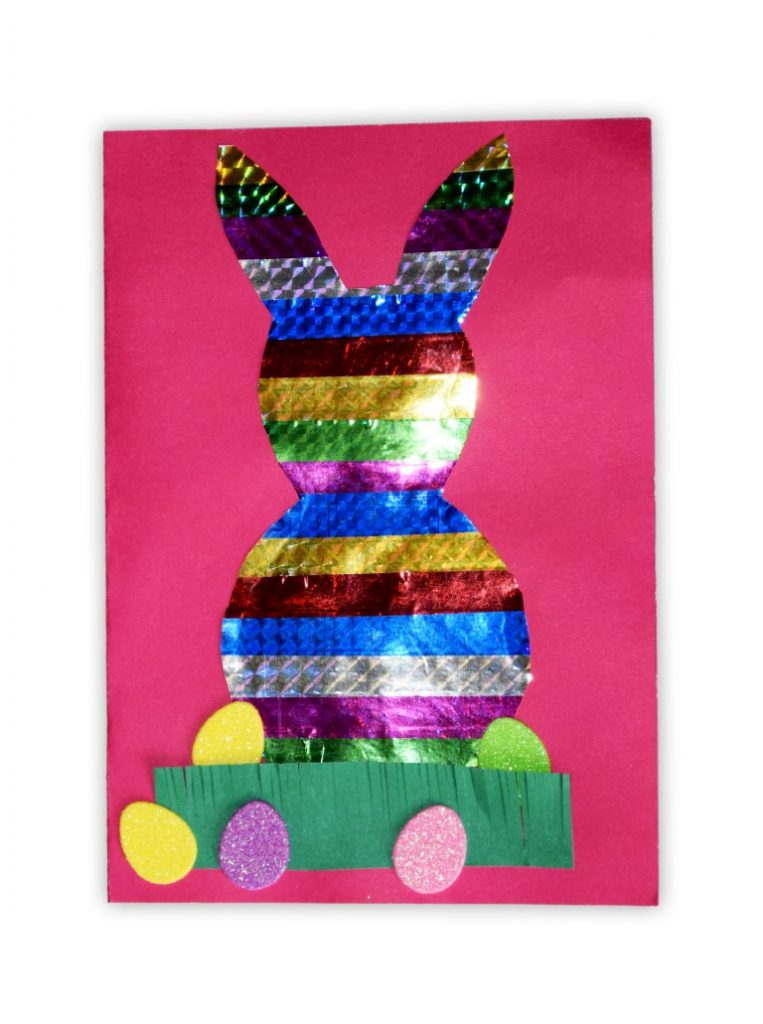 Zdjęcie przedstawia przesłaną kartkę konkursową na Konkurs Wielkanocny 2021 w kategorii dzieci 10 - 13 lat autorstwa B. Adam