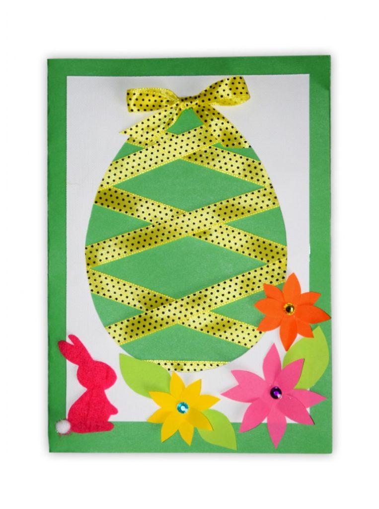 Zdjęcie przedstawia przesłaną kartkę konkursową na Konkurs Wielkanocny 2021 w kategorii dzieci 10 - 13 lat autorstwa B. Antoni