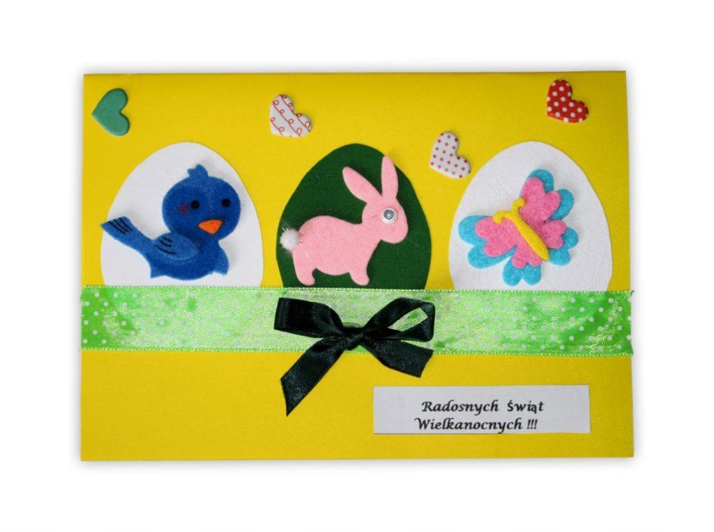 Zdjęcie przedstawia przesłaną kartkę konkursową na Konkurs Wielkanocny 2021 w kategorii dzieci 10 - 13 lat autorstwa K. Mateusz