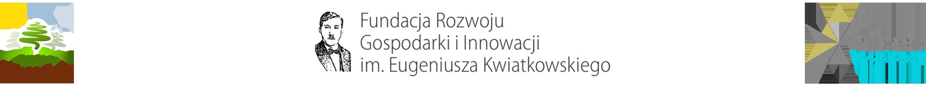 Grafika przedstawia logotyp Gminy Wyryki, Fundacji Rozwoju Gospodarki i Innowacji im. Eugeniusza Kwiatkowskiego oraz Gminnej bilioteki Publicznej w Wyrykach